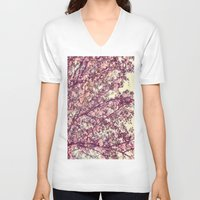 sofa V-neck T-shirts featuring floral sofa by vibeyantlers