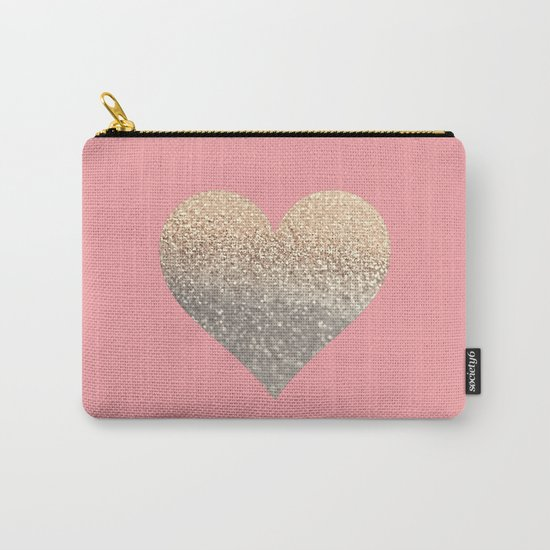 GOLD HEART CORAL Carry-All Pouch