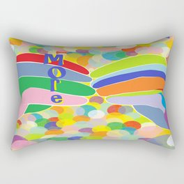"""ASL """"More"""" on a Bright Bubble Background Rectangular Pillow"""