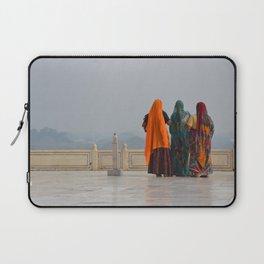 Colourful Indian women at Taj Mahal Laptop Sleeve