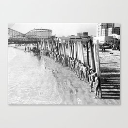 Long Beach Surf Contest 1930s Canvas Print