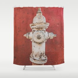 Red Tap Shower Curtain