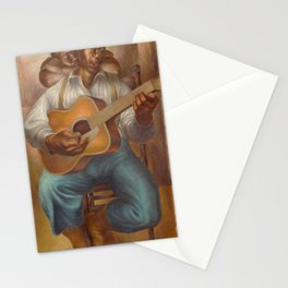 African-American 1952 Classical Masterpiece 'Goodnight Irene' by Charles White Stationery Cards