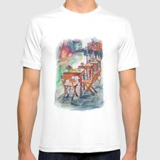 Street Mens Fitted Tee White MEDIUM