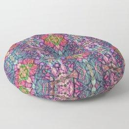 Fractal Art Stained Glass G311 Floor Pillow