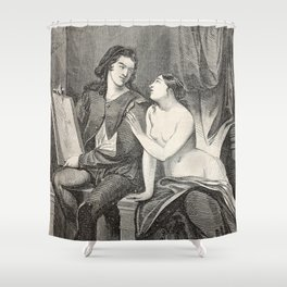 Raphael and the Fornarina Shower Curtain