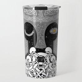 Odin One-Eye Knotwork Travel Mug