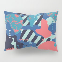 Vivid Collaged Geometric Tribal Abstract Geo Native Pillow Sham
