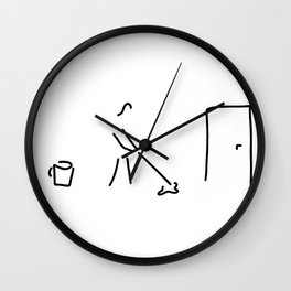 cleaning lady building cleaner Wall Clock