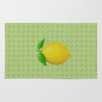 lemon Area & Throw Rugs featuring Lemon by Mr and Mrs Quirynen