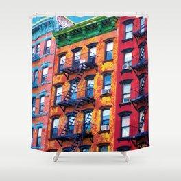 New York Facades Shower Curtain
