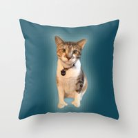 minnie Throw Pillows featuring minnie by lilacattack