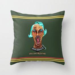 Never Trust a Monster Throw Pillow
