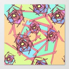 Sticks of Many Colours Canvas Print