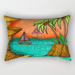 Orange Sky Bliss Rectangular Pillow