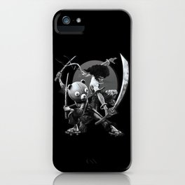 black 'n white samurai iPhone Case