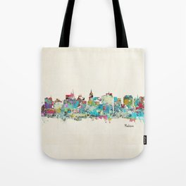 Madison Wisconsin skyline Tote Bag