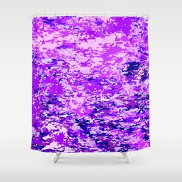 Purple Flames Background Shower Curtain