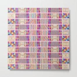 Seamless Colorful Geometric Pattern XXVII Metal Print