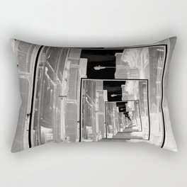 Reflections of An Infrared Alley Rectangular Pillow