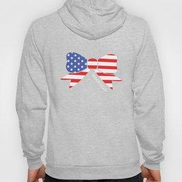 America Bow Graphic Patriotic 'Merica T-shirt Hoody