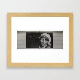 Mother Teresa quote Framed Art Print