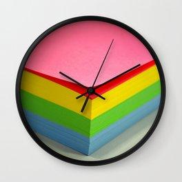 spectrum color block Wall Clock