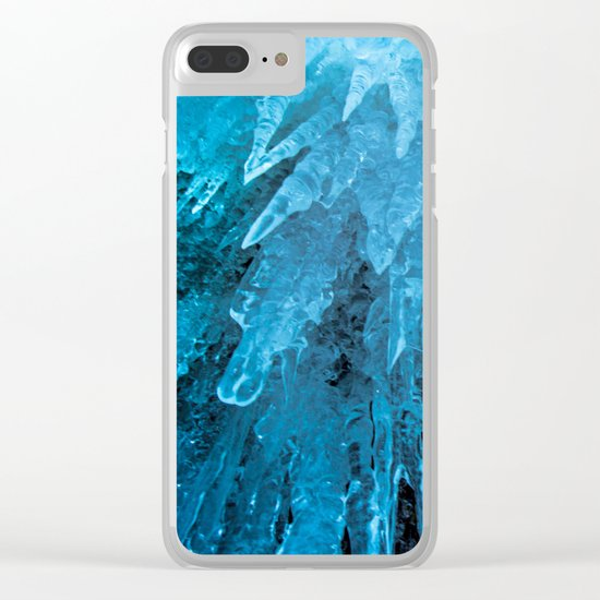 Ice Stalactites Clear iPhone Case