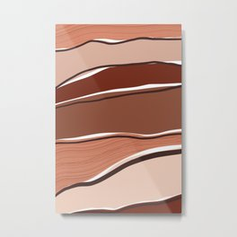 Abstract Terrain Metal Print