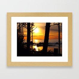 Olympic National Park Sunset Framed Art Print
