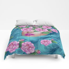 Lady with Camellias Comforters