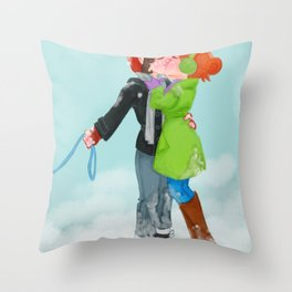 Winter Kiss Throw Pillow