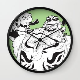 Toad Family Wall Clock