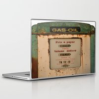 pocket fuel Laptop & iPad Skins featuring old pump fuel by frenchtoy