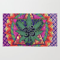 namaste Area & Throw Rugs featuring namaste by Natasha Marie