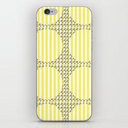 golden stripes iPhone Skin