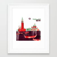 venice Framed Art Prints featuring Venice by Claudia Voglhuber