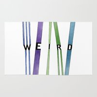 weird Area & Throw Rugs featuring weird by Nikki Lamoureux