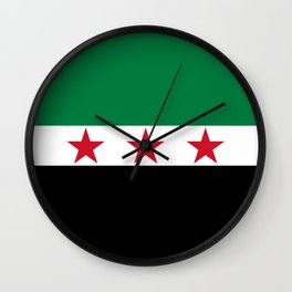 Syrian Independence Flag of Syria Wall Clock
