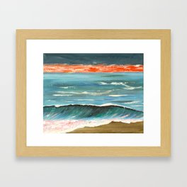 Fiery sunset Framed Art Print