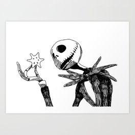 Jack for Christmas Art Print
