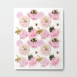 Busy Bees Metal Print