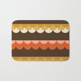 Be Still - scallop retro vintage 70s style colors 1970s throwback Bath Mat