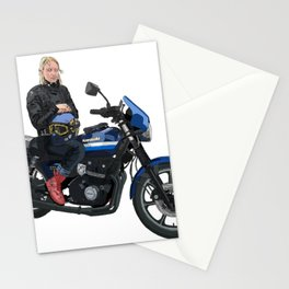 Girl on a Motorcycle Stationery Cards
