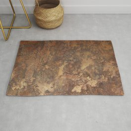N47 - Golden Antique Rustic & Farmhouse Vintage Texture Rug