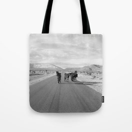 Spring Mountain Wild Horses Tote Bag