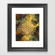 Flower Of Life (Batik 11) Framed Art Print