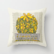 To Wander In the Fields of Flowers...(Grow Free Series) Throw Pillow