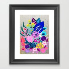 Linen Bouquet Framed Art Print