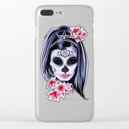 Day of the Dead Girl Clear iPhone Case